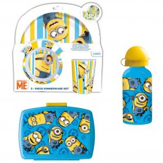MINIONS Frühstücks-Set für Kinder Kindergeschirr Trinkflasche Brotdose