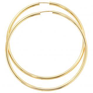 Creolen rund groß 333 Gold Gelbgold Ohrringe Durchmesser 60 mm