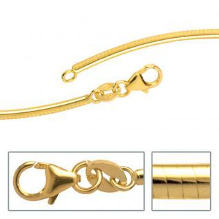 Halsreif 585 Gelbgold 2 mm 42 cm Gold Kette Halskette Goldhalsreif Karabiner