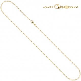 Weit-Ankerkette 585 Gelbgold 2 mm 50 cm Karabiner Gold Kette Halskette Goldkette