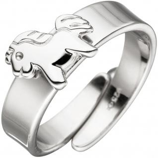Kinder Ring Pferd Pony 925 Sterling Silber Silberring Kinderring verstellbar