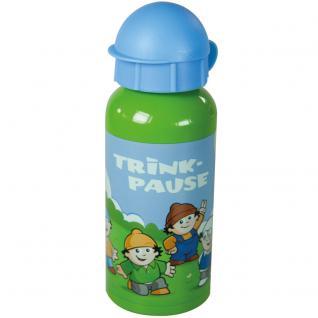 MAINZELMÄNNCHEN Kinder Trinkflasche aus Aluminium grün blau mit 400 ml