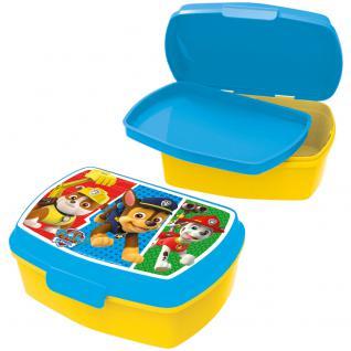 PAW PATROL Kinder Brotdose mit Einsatz aus Kunststoff blau gelb