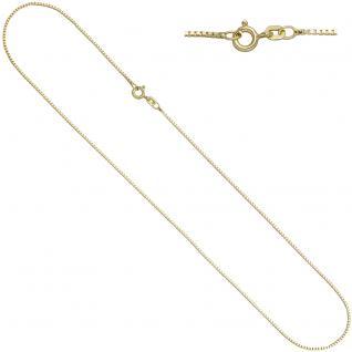 Venezianerkette 925 Sterling Silber gold vergoldet 1, 3 mm 50 cm Kette Halskette