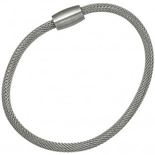 Strumpfarmband Edelstahl 19 cm Armband Edelstahlarmband mit Magnetverschluss