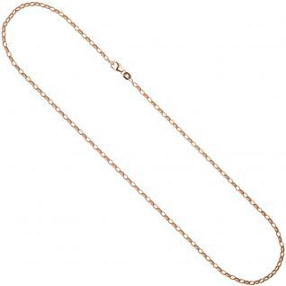 Ankerkette 925 Silber rotgold vergoldet 2, 4 mm 45 cm Halskette Kette Karabiner - Vorschau 2