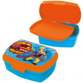 FEUERWEHRMANN SAM Kinder Brotdose mit Einsatz aus Kunststoff blau orange
