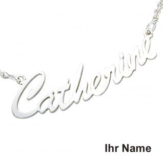 Collier Name 925 Sterling Silber 43 cm Namens-Kette Halskette