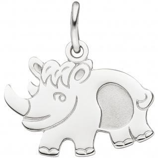 Anhänger Nashorn 925 Sterling Silber Silberanhänger - Vorschau