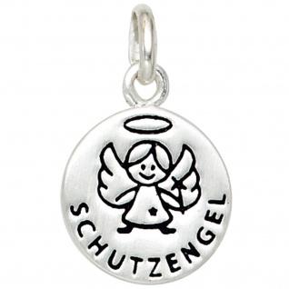 Kinder Anhänger Engel Schutzengel 925 Silber mit Lackeinlage Kinderanhänger