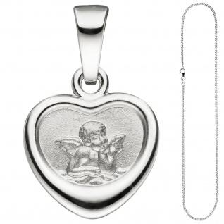 Anhänger Kleines Herz Herzchen Schutzengel 925 Sterling Silber mit Kette 38 cm - Vorschau 2