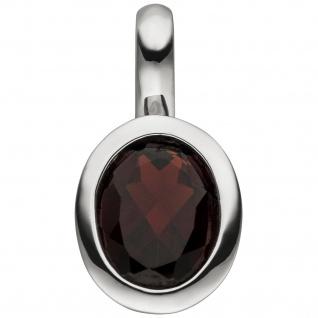 Anhänger 925 Sterling Silber 1 Granat rot Granatanhänger