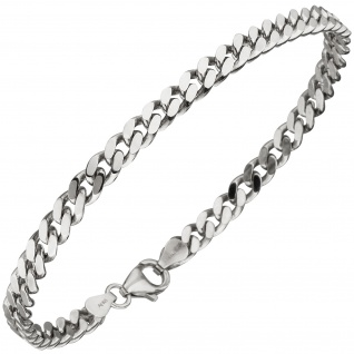 Panzerarmband 925 Sterling Silber 21 cm Armband Silberarmband - Vorschau 3