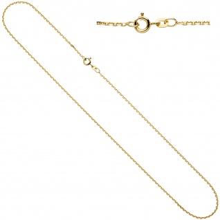 Ankerkette 333 Gelbgold 1, 2 mm 45 cm Gold Kette Halskette Goldkette Federring