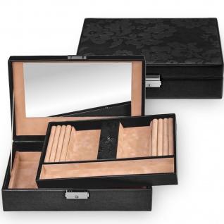 Sacher Schmuckkoffer Schmuckkasten NATURE FIORELLA Leder schwarz abschließbar - Vorschau 1