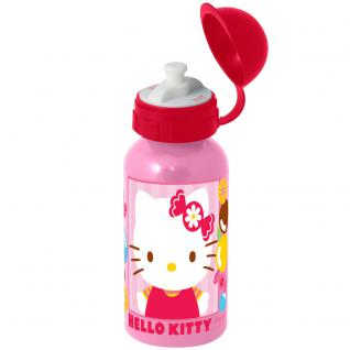Hello Kitty Kinder Trinkflasche aus Aluminium rosa rot 400 ml
