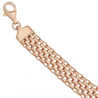Armband 925 Sterling Silber rotgold vergoldet 21 cm Karabiner - Vorschau 3