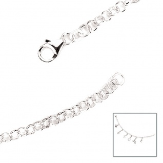 Armband 925 Sterling Silber 19 cm Silberarmband Bettelarmband für Charms