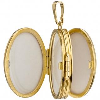 Medaillon oval mit Blumen Muster 333 Gold Gelbgold zum Öffnen für 6 Fotos - Vorschau 5