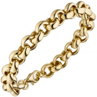 Erbsarmband 925 Sterling Silber gold vergoldet 21 cm Armband