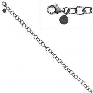 Armband 925 Sterling Silber antik rhodiniert 18, 5 cm Silberarmband Karabiner