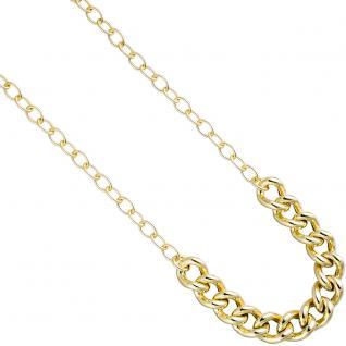Collier Halskette 925 Sterling Silber gold vergoldet 45 cm Kette Karabiner