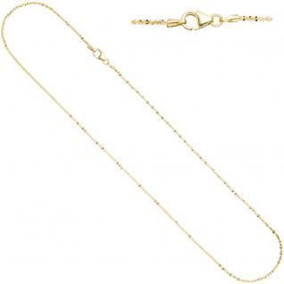 Criss-Cross Kette 333 Gelbgold 1, 3 mm 40 cm Gold Halskette Goldkette Karabiner