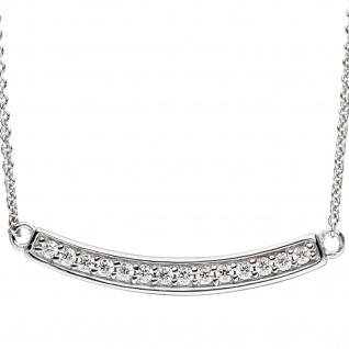 Collier Halskette 925 Sterling Silber mit Zirkonia 45 cm Kette Silberkette - Vorschau 2