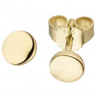 Ohrhänger 585 Gold Gelbgold 2 Süßwasser Perlen Ohrringe Perlenohrringe - Vorschau 2
