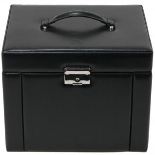 Sacher Schmuckkoffer Schmuckkasten schwarz abschließbar Uhrenfach Schubladen - Vorschau 2