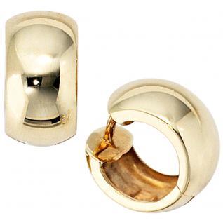 Creolen rund breit 333 Gold Gelbgold Ohrringe Goldohrringe Goldcreolen