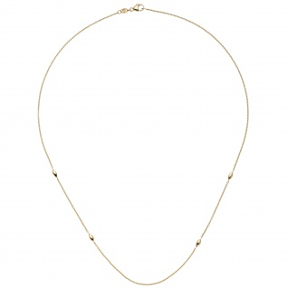 Collier Halskette 585 Gold Gelbgold 45 cm Kette Goldkette