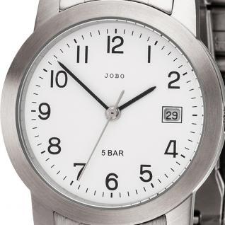 JOBO Herren Armbanduhr Quarz Analog Edelstahl Herrenuhr mit Datum - Vorschau 2