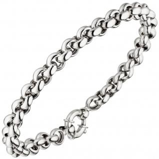 Erbsarmband 585 Gold Weißgold 21 cm Armband Weißgoldarmband