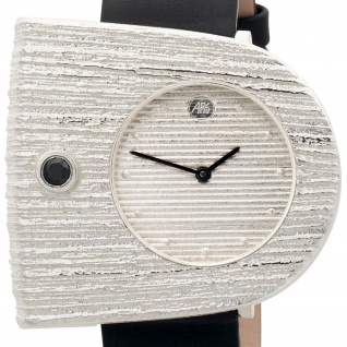 ARS Damen-Armbanduhr Quarz Analog 925 Sterling Silber Lederband Mineralglas - Vorschau 2