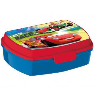 CARS Kinder Brotdose aus Kunststoff blau rot