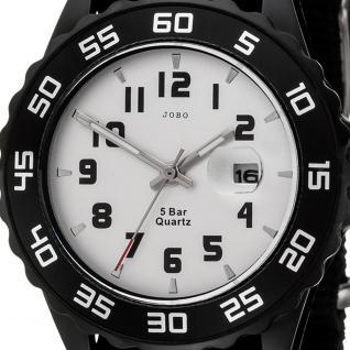 JOBO Kinder Armbanduhr Quarz Analog schwarz Kinderuhr mit Datum - Vorschau 2