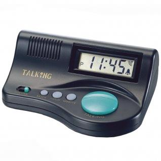 Atlanta 6695 Sprechender Wecker digital Lautstärkeregler Stundenansage Snooze