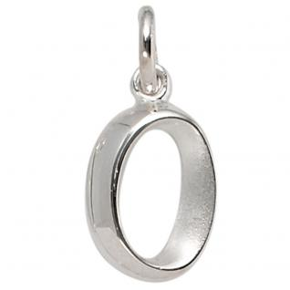 Anhänger Buchstabe O 925 Sterling Silber matt Buchstabenanhänger - Vorschau