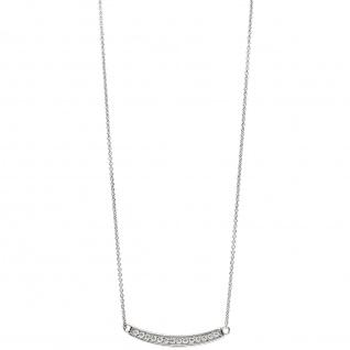 Collier Halskette 925 Sterling Silber mit Zirkonia 45 cm Kette Silberkette - Vorschau 3