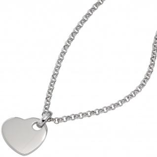 Anhänger Herz 925 Sterling Silber rhodiniert Herzanhänger - Vorschau 3