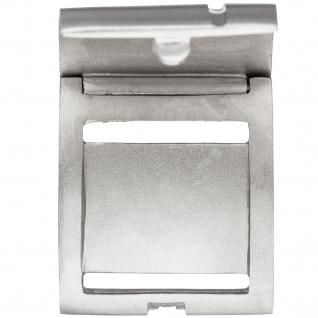 Medaillon eckig für 1 Foto 925 Sterling Silber matt mattiert Anhänger zum Öffnen - Vorschau 3
