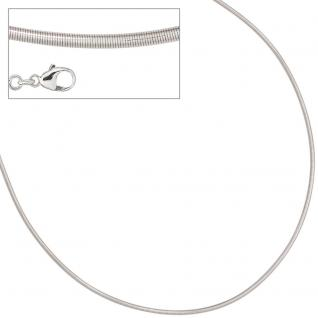 Halsreif 925 Sterling Silber 2 mm 45 cm Kette Halskette Silberhalsreif