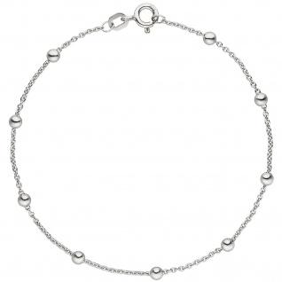 Armband mit kleinen Kugeln 925 Sterling Silber 18, 5 cm