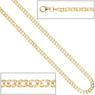 Zwillings-Panzerarmband 333 Gelbgold 21 cm Gold Armband Goldarmband Karabiner - Vorschau 4