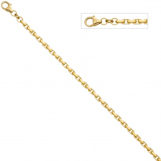 Ankerarmband 333 Gold Gelbgold diamantiert 21 cm Armband Goldarmband