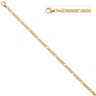 Zwillings-Panzerarmband 585 Gelbgold 19 cm Gold Armband Goldarmband - Vorschau 3