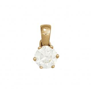 Anhänger 585 Gold Gelbgold 1 Diamant Brillant 0, 10ct. Solitär Diamantanhänger