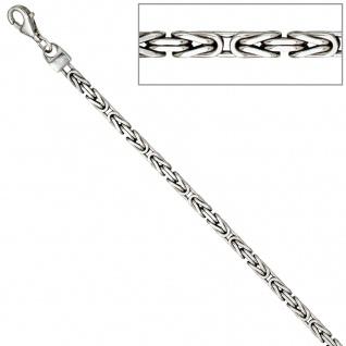 Königsarmband 925 Sterling Silber 19 cm Armband Silberarmband Karabiner - Vorschau 3