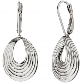 Ohrhänger Tropfen 925 Sterling Silber Ohrringe Silberohrringe